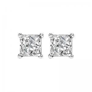 14K P/Cut Diamond Studs 5/8 ctw P2