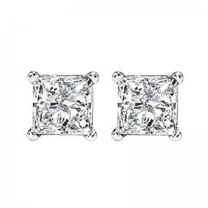 14K P/Cut Diamond Studs 1 1/5 ctw P2