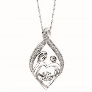 Silver Rhythm of Love Pendant