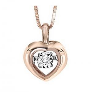 10KP Diamond Rhythm Of Love Pendant