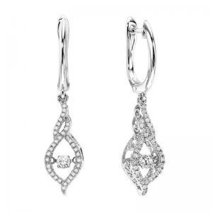 14K Diamond Rhythm Of Love Earrings 3/8 ctw