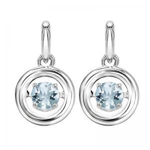 Silver Aquamarine Rhythm Of Love Earrings