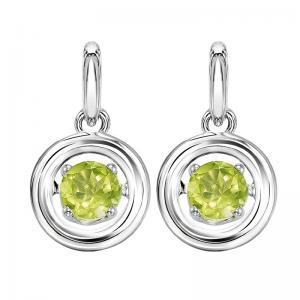 Silver Peridot Rhythm Of Love Earrings