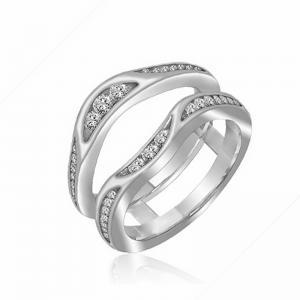 14K Diamond Insert Ring 1/2 ctw