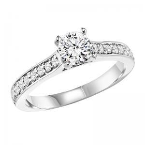 14K Diamond Engagement Ring 1/4 ctw